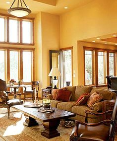 mustard living room walls | Decorating with Gold Wall Color | Golden Paint Colors | Wallpaper ...