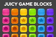 Ad: Match 3 Game Blocks by Irina Mir on A set of vibrant, glossy blocks for a match three game, physics puzzle game, any type of game where you need colorful tiles! Candy App, Candy Games, Mobiles, Match 3 Games, Game Ui, Set Game, Threes Game, Typing Games, Apps