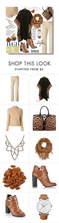"""""""Hijab"""" by sans-moderation ❤ liked on Polyvore featuring Dsquared2, NOVICA, Tory Burch, Yves Saint Laurent, Chicnova Fashion, Miss Selfridge, Georg Jensen, booties, brown and hijab"""