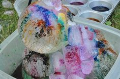 The Chocolate Muffin Tree: Colorful Ice Sculptures