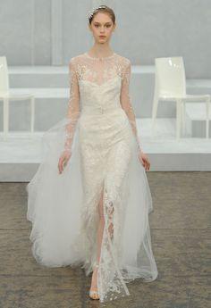 Monique Lhuillier printemps-été 2015 http://www.vogue.fr/mariage/tendances/diaporama/le-meilleur-de-la-bridal-week-de-new-york/18378/image/994178#!robe-de-mariee-le-defile-bridal-monique-lhuillier-de-la-collection-printemps-ete-2015