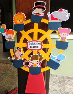 Caixa Cone Roda Gigante - Circo