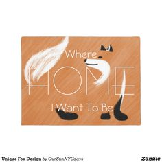 Unique Fox Design Doormat