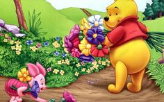 Winnie The Pooh With Flower Disney Cross Stitch Pattern Counted Cross Stitch Chart, Pdf Format, Instant Download by icrossstitchpattern on Etsy