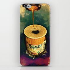 Good Morning Coffee On the Go with Graffitti Wrap – iPhone case, Canvas prints, Gift cards, Tote bags, T-shirts, All over T-shirts, mugs, Laptop sleeves, iPad sleeves... etc. | Design by András Balogh | Sweet Life – Things to Love series