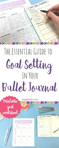 Guide to Goal Setting in Your Bullet Journal Resolution or reality? Make 2017 your best year with goal setting and your bullet journal.Resolution or reality? Make 2017 your best year with goal setting and your bullet journal. Bullet Journal Goal Setting, Planner Bullet Journal, How To Bullet Journal, Bullet Journals, Life Planner, Bullet Journal Year Goals, Goals Planner, Happy Planner, Goals Worksheet