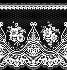 Paper Embroidery Design A beautiful high quality canvas that will look amazing on any wall. - A beautiful high quality canvas that will look amazing on any wall. Border Embroidery Designs, Bead Embroidery Patterns, Paper Embroidery, Lace Patterns, Textile Pattern Design, Textile Patterns, Lace Painting, Chinese Patterns, Fabric Stamping