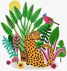 Leopard big cats art, cat art, jungle illustration, graphic illustration, j Art And Illustration, Painting Inspiration, Art Inspo, Motif Tropical, Arte Floral, Grafik Design, Cat Art, Watercolor Art, Art Drawings