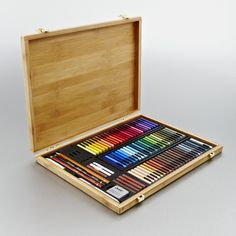 Conté à Paris Carrés Crayons were invented in France in 1795 by Nicolas-Jacques Conté, and have since been used by many of the world's greatest artists, including Picasso, Delacroix and Degas. These hard pastels are made from a blend of natural pigments, kaolin clay and graphite.