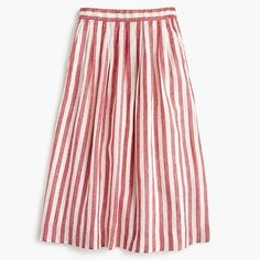 Crew for the Midi skirt in striped linen for Women. Find the best selection of Women Skirts available in-stores and online. Skirt Outfits, Dress Skirt, Modest Outfits, Classy Outfits, Waist Skirt, Midi Skirt Casual, Linen Skirt, Striped Linen, Stripe Skirt