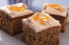 Spiced carrot cake squares