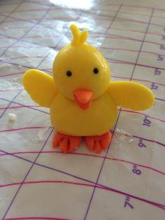 Chick cupcake topper
