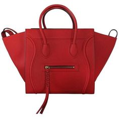 e21cd0d0ff View this item and discover similar tote bags for sale at - Company  Celine  Style  Luggage Tote Handles  Rolled Red Leather Handles