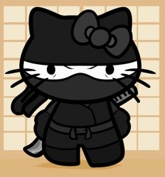 How to Draw Ninja Hello Kitty, Step by Step Hello Kitty Art, Hello Kitty Birthday, Here Kitty Kitty, Hello Kitty Pictures, Kitty Images, Sanrio, Ninja Birthday, Hello Kitty Wallpaper, Geek Stuff