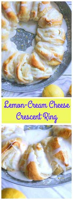 WHO in the world doesn't love to happily indulge in warm lemon-cream cheese filling enrobed in Pillsbury's buttery, golden baked crescent roll dough, and drizzled with a sweet cream glaze Lemon Desserts, Lemon Recipes, Just Desserts, Sweet Recipes, Baking Recipes, Trifle Desserts, Chef Recipes, Crescent Roll Dough, Candy