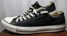 Converse All Star Black Canvas Athletic Shoe Men 9.5 #ConverseAllStars #Athletic