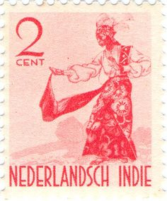 Netherlands Indies - Menari dancer, Amboin
