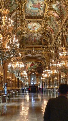 Opéra, Palais Garnier - Paris, Grand Foyer Multi City World Travel France… Places Around The World, Oh The Places You'll Go, Places To Travel, Places To Visit, Around The Worlds, Beautiful Architecture, Beautiful Buildings, Paris Travel, France Travel