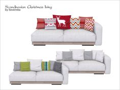 Sofa 2-seater with left arm and pillows  Found in TSR Category 'Sims 4 Sofas & Recliners'
