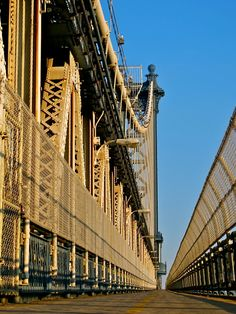 """NYC. Empty Manhattan Bridge by Alberto Rey.   """"NY NY I want to wake up in that city   That never sleeps   And find I'm king of the hill   Top of the list """" :)"""