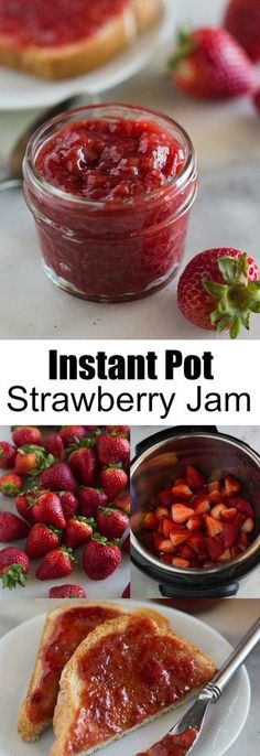This amazing Instant Pot Strawberry Jam recipe uses just four simple ingredients (no fruit pectin needed!) and comes together in less than 30 minutes. Making homemade jam has never been simpler or easier, thanks to the Instant Pot pressure cooker! Instant Pot Pressure Cooker, Pressure Cooker Recipes, Pressure Cooking, Oxtail Recipes, Do It Yourself Food, Salsa Dulce, Instant Pot Dinner Recipes, Instant Pot Meals, Recipes Dinner