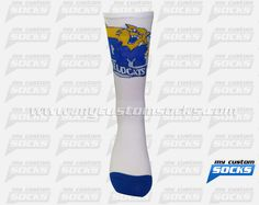 Elite Style socks designed by My Custom Socks for Central Mountain High School in Farrandsville, Pennsylvania. Football socks made with Coolmax fabric. #Football custom socks - free quote! ////// Calcetas estilo Elite diseñadas por My Custom Socks para Central Mountain High School en Farrandsville, Pennsylvania. Calcetas para Futbol Americano hechas con tela Coolmax. #FutbolAmericano calcetas personalizadas - cotización gratis! www.mycustomsocks.com