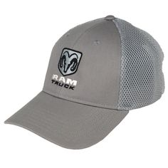 Dodge RAM Hat features a RAM logo and the word RAM and Truck embroidered on the front. The back has a soft mesh with a velcro strap to adjust for size. One size fits all. Available in different colors