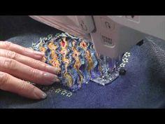 Техника синель | Мастер класс для начинающих - YouTube Sewing Tutorials, Sewing Patterns, Applique Templates, Textiles, Chenille, Fabric Manipulation, Fabric Crafts, Crafty, Quilts
