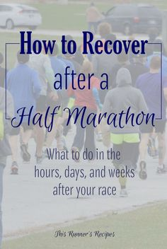 Running too soon after a marathon can do more harm than good. Learn how to recover after a half marathon with these useful tips too soon after a marathon can do more harm than good. Learn how to recover after a half marathon with these useful tips! Half Marathon Recovery, Half Marathon Tips, Running Half Marathons, Half Marathon Training Plan, Disney Princess Half Marathon, Marathon Running, Run Recovery, Disney Marathon, Kauai Marathon