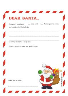 Dear Santa Letter Templates by Bird's Party