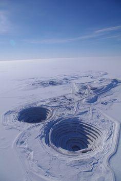 Diavik diamond mind located in the Northwest Territories of Canada