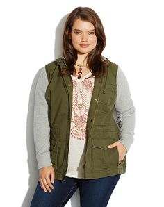 Lucky Brand French Terry Military Jkt Womens