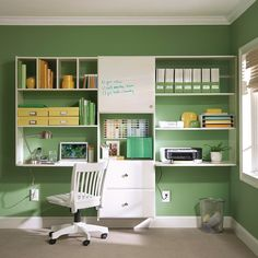 #DIYTip: use a closet starter kit to build your home office. It utilizes empty space while keeping everything organized. thd.co/office #HomeDepot #Padgram