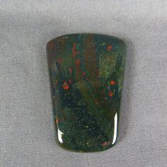 Bloodstone Cabochon Green red Jasper Beautiful by @azbluerockers, $22.00