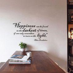 Humor Philosophy Quote - Albus Dumbledore Wall Stickers Vinyl Decal Harry Potter