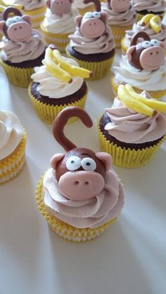 Monkey Themed Cupcakes by Ann's Cupcakery!