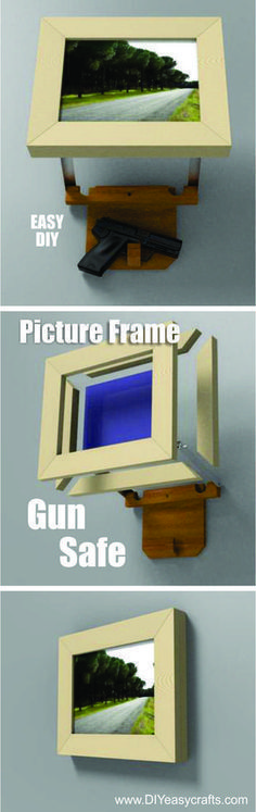 How to build a Picture frame Hidden Gun Safe. Easy DIY project…