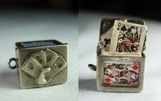 Deck of Mini-Poker Cards/OPENS/Vintage Silver Charm