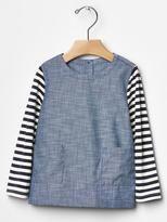 chambray stripe top