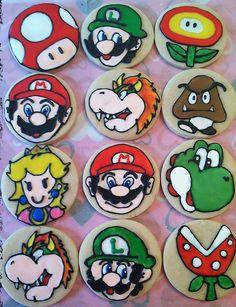 Super Mario Bros. Cookies on Etsy, $34.00