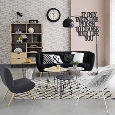 3 tables basses gigognes D 40 cm à 60 cm Graphik | Maisons du Monde
