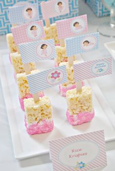 "Rice Krispies treat ""popsicles"" dipped in chocolate or strawberry? Or use icing & sprinkles?"