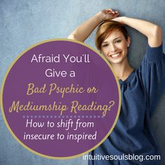 Do you ever feel like hiding under a table or hiding on a remote island because you are so nervous to give readings? Here are 4 tips that will help.