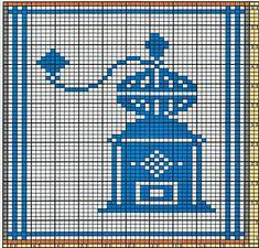 Ravelry: Potholder Coffee Grinder 2 pattern by Regina Schoenfeldt Crochet Bear, Thread Crochet, Crochet Birds, Crochet Food, Crochet Animals, Cross Stitch Patterns, Knitting Patterns, Crochet Patterns, Crochet Granny Square Afghan