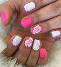 Nails Design, 3d Design, Nail Art Designs, Design Ideas, Love Nails, My Nails, Nail Ideas, Acrylic Nails, Hair Beauty