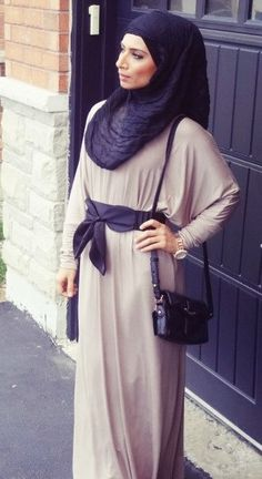 Hijab Fashion 2016/2017: #Hijab Dress  Hijab Fashion 2016/2017: Sélection de looks tendances spécial voilées Look Descreption #Hijab Dress