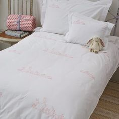 Pink Bunnies Cot Bed Duvet Cover