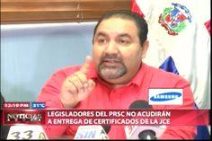 Legisladores Del PRSC No Acudirán A Entrega De Certificados De La JCE