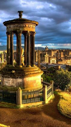 Dugald Stewart Monument in Edinburgh, Scotland