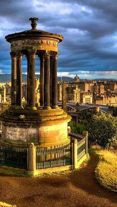 Dugald Stewart Monument in Edinburgh, Scotland